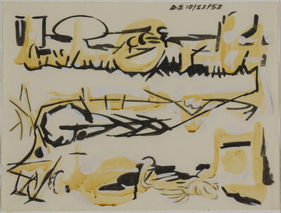 David Smith (1906-1965), 'Untitled, (10/22/52)', 1952