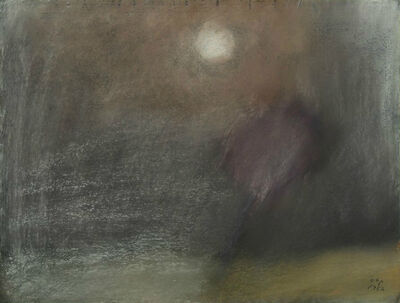 Carl-Henning Pedersen, 'Landscape by moonlight', 1952