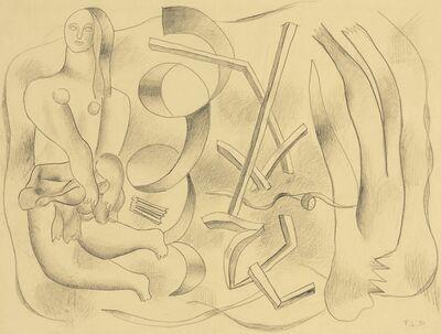 Fernand Léger, 'La Danseuse (recto-verso)', 1931