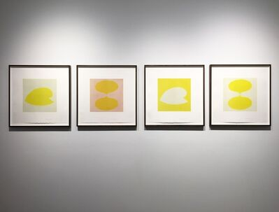 Isabel Bigelow, '2 drops (yellow), 2 drops - pink, snail (grey), yellow snail with grey', 2016