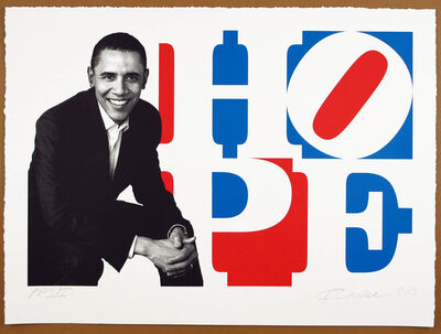 Robert Indiana, 'Obama Portrait: Red, White, Blue', 2009