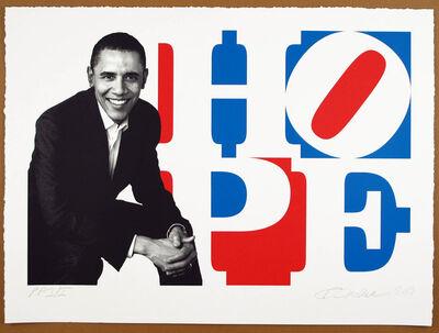 Robert Indiana, 'Obama Portrait: Red, White, Blue', 2009