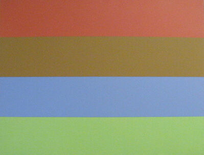 Yves Gaucher, 'Rouge, ocre, bleu, vert'