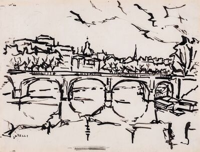 Angelo Savelli, 'Tiber bridge'