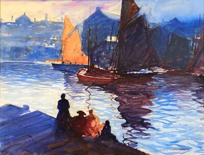 John Whorf, 'View of Boston Harbor', ca. 1930s