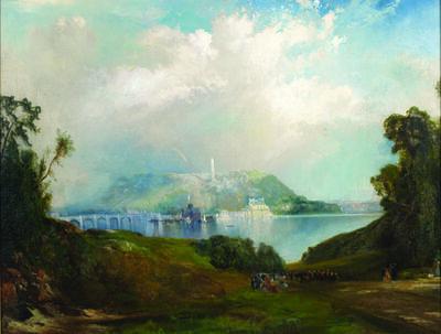 Thomas Moran, 'View of Fairmount Waterworks, Philadelphia', 1860-1870