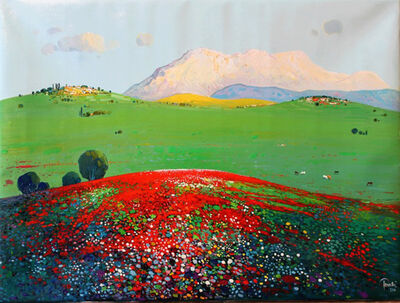 Pashk Pervanthi, 'Red Flowers', 2018