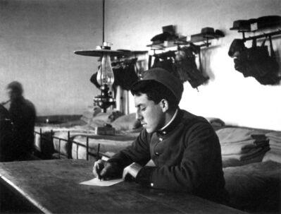 André Kertész, 'Soldier Writing Letter, WWI', 1915