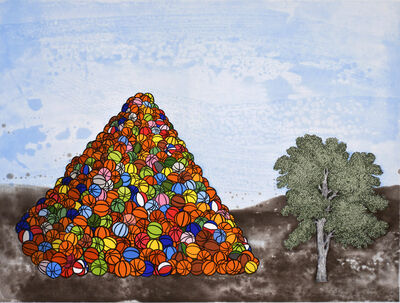 David Huffman, 'Basketball Pyramid', 2007