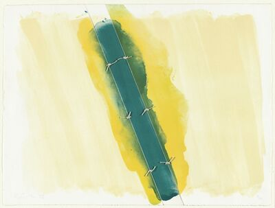 Richard Smith (1931-2016), 'Lawson Set I (green tied in 3 sections)', 1973
