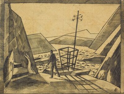 Paul Nash, 'Sketch for The Lady From the Sea', 1922