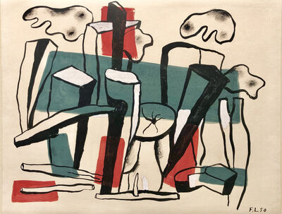 Fernand Léger, 'Composition aux bûches', 1950