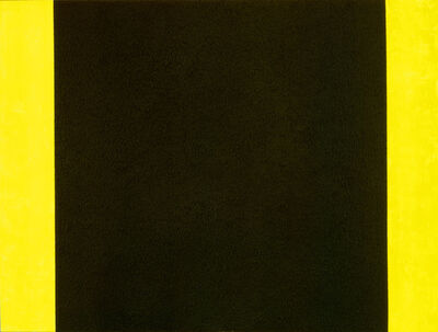 Peter Halley, 'Black Cell with Yellow Background', 1984