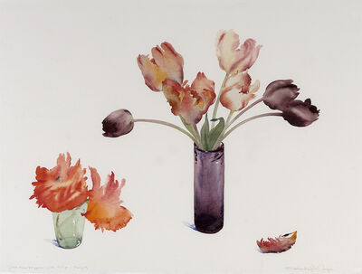 Susan Headley Van Campen, 'First Two Poppies with Tulips, May 29'