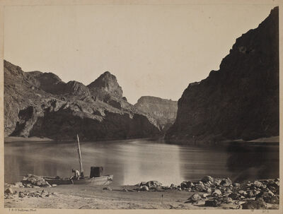 Timothy H. O'Sullivan, 'Black Canon, Colorado River, from Camp 8, Looking Above', 1873