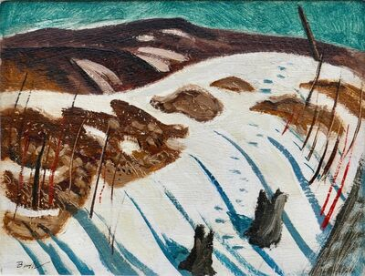 Jack Bush, 'Shadows on Snow (Hoggs Hollow Feb 1947)', 1947