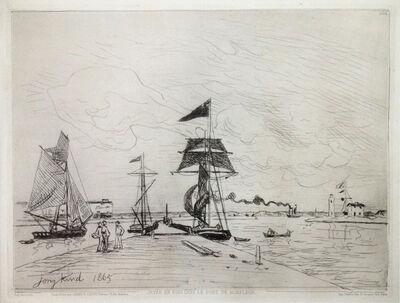 Johan Barthold Jongkind, 'Jetée en bois dans le port de Honfleur ', 1865