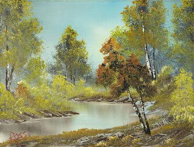 Bob Ross, 'Bob Ross Authentic Signed Original Lazy River Painting Contemporary Art', 1982