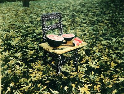 Robert Cumming, 'Watermelon and Chair, W. Suffield, Connecticut', 1982