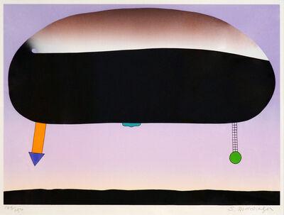 Sadamasa Motonaga, 'くろだえんさんかくむらさき まるみどり', 1993
