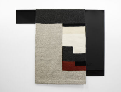 Andrea Zittel, 'Parallel Planar Panel (dark grey, light grey, white, off-white, rust, black)', 2015