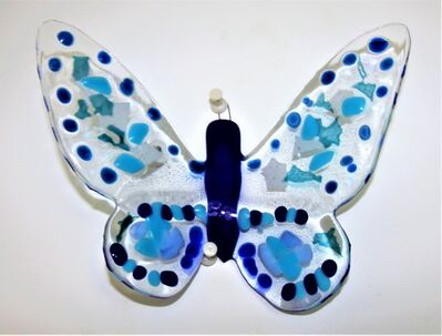 Mariana Villanueva, 'Dawn in blue small butterfly nr.11', 2017