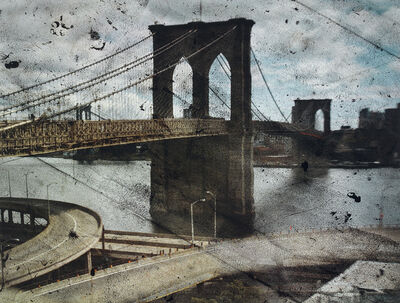Abelardo Morell, 'Tent-Camera Image on Ground: Rooftop View of the Brooklyn Bridge', 2010