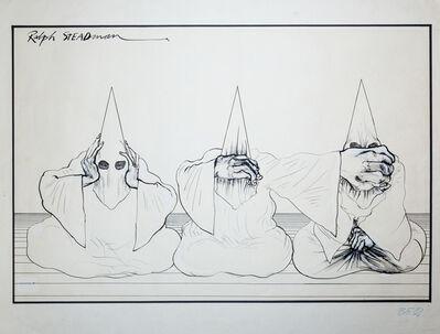 Ralph Steadman, '3 Monkeys (KKK)', 72-76