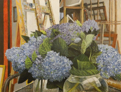 James Blake, 'Blue Hydrangeas', 2017