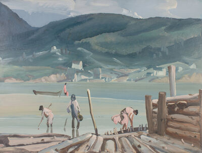 Frank Wilcox, 'Clam Diggers at Chaleur Bay', ca. 1943