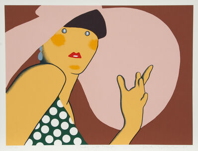 Kiki Kogelnik, 'Lady with Hat', 1980