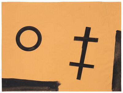Helmut Federle, 'Landschaft mit Kreis und Doppelkreuz', 1978