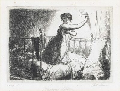 John Sloan, 'Turning Out the Light, from New York City Life', 1905