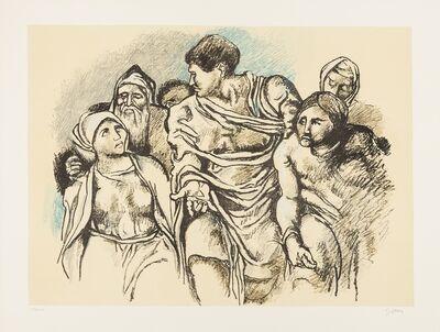 Renato Guttuso, 'Ommagio a Michelangelo', 1975
