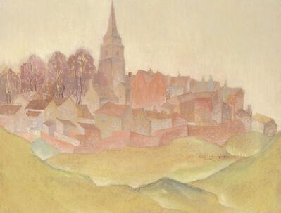 Herbert Gurschner, 'Village at Sunset', 1935
