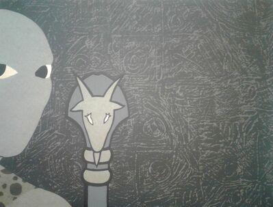 Belkis Ayón, 'Untitled (Head with Goat)', 1990