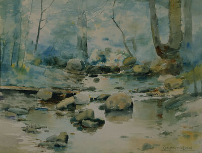 Charles Warren Eaton, 'Rocks in a Stream', 1888