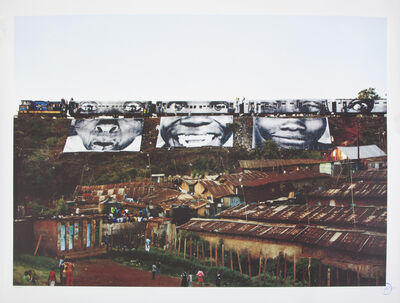 JR, 'In Kibera Slum, train passage 1', 2010