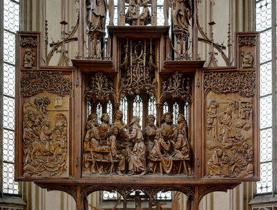 Tilman Riemenschneider, 'Altarpiece of the Holy Blood (wings open)', ca. 1499-1505