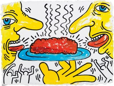 Keith Haring, 'Meatloaf Drawing for Meals on Wheels', 1987