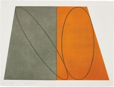 Robert Mangold (b.1937), 'III, from Plane/Figure Series, Folded', 1992-93