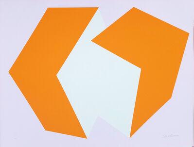 Charles Hinman, 'Red-Orange on Lavender', 1972