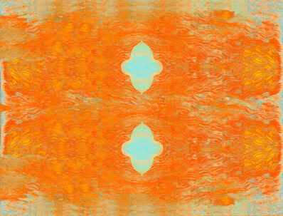 Ann Pachner, 'Two Blue Shapes/Fire', 20016