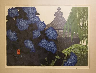 Kiyoshi Saito, 'June, Kamakura (Hydrangea Flowers at Hasedera)', 1971