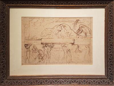 """Giulio Aristide Sartorio, 'Sketch for the Parliament Hall """"Thanatos and the Enigma""""', 1908"""