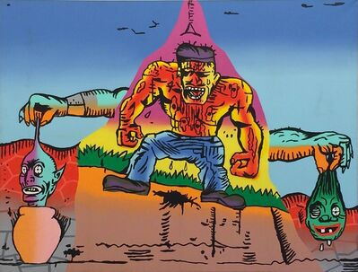 Gary Panter, 'Untitled (Muscle Man)', 1988