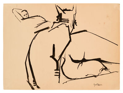 Jacob Lawrence, 'Cat with Gwen ', 1960