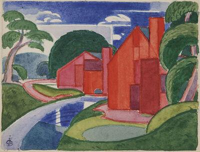 "Oscar Bluemner, 'Tars, Azlo ""Flach"" Soho Fat Mill', 1920"