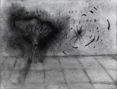 David Lynch, 'Mighty Mouse and Spider', 2012