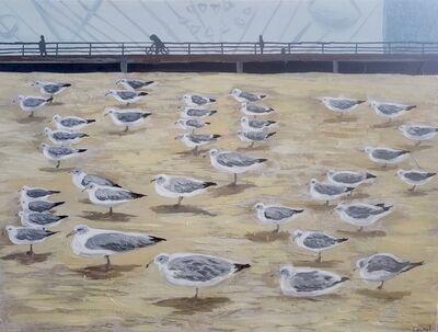 Laurel Burns, 'Coney Island Seagulls', 2020